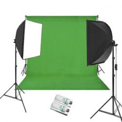 Green Screen Studio Set 400+400W